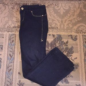 Cache Jeans - Boot cut with gold chain accents